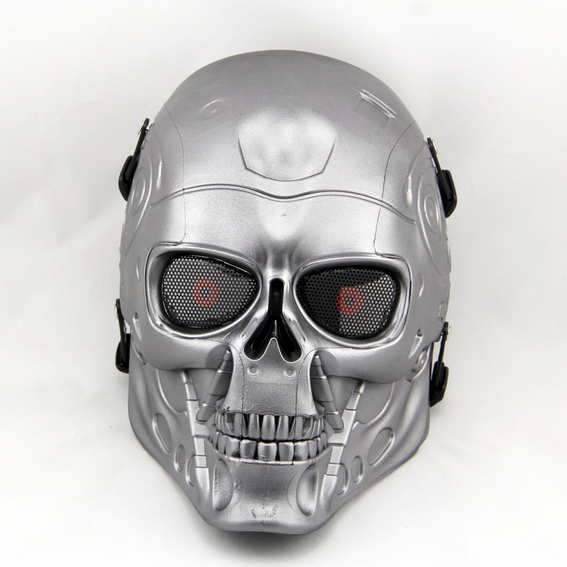 Field Full face Masks Protective Mask Wacky Skeleton Mask Bar Party Mask Ball Toy Gifts Practical Jokes impact resistant plastic(China (Mainland))