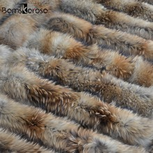 Big Size 100% Natural Real Raccoon Fur Collar Scarf For Women Winter Coat Cap Warm Genuine Fur Collar Scarves 65cm 75cm 80cm(China (Mainland))