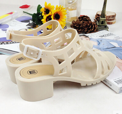 free shipping Melissa Gladiator Sandals Women Platform Sandals Jelly shoes Plastic shoes Thick High Heels women sandal(China (Mainland))