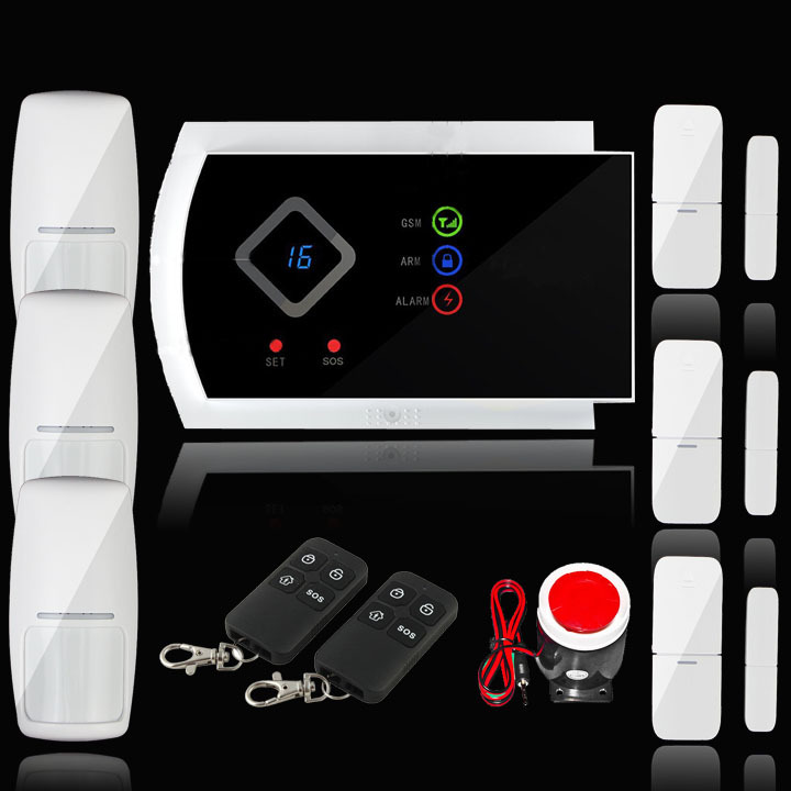 Free shipping Wireless SMS Home GSM Alarm system House intelligent Burglar Security Alarm System with russian vioice(China (Mainland))