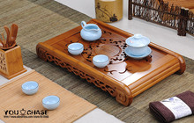 Classical style 49cm*29cm*7.5cm Bamboo carved tea tray, exquisite Carbonized bamboo tea board, AAAAA quality