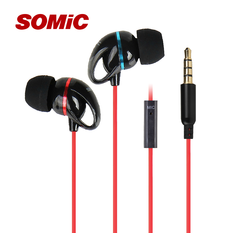 Somic Mx123 Earphones With in-Ear Microphone Wire Headset Mobile Phone Calls Mp3(China (Mainland))