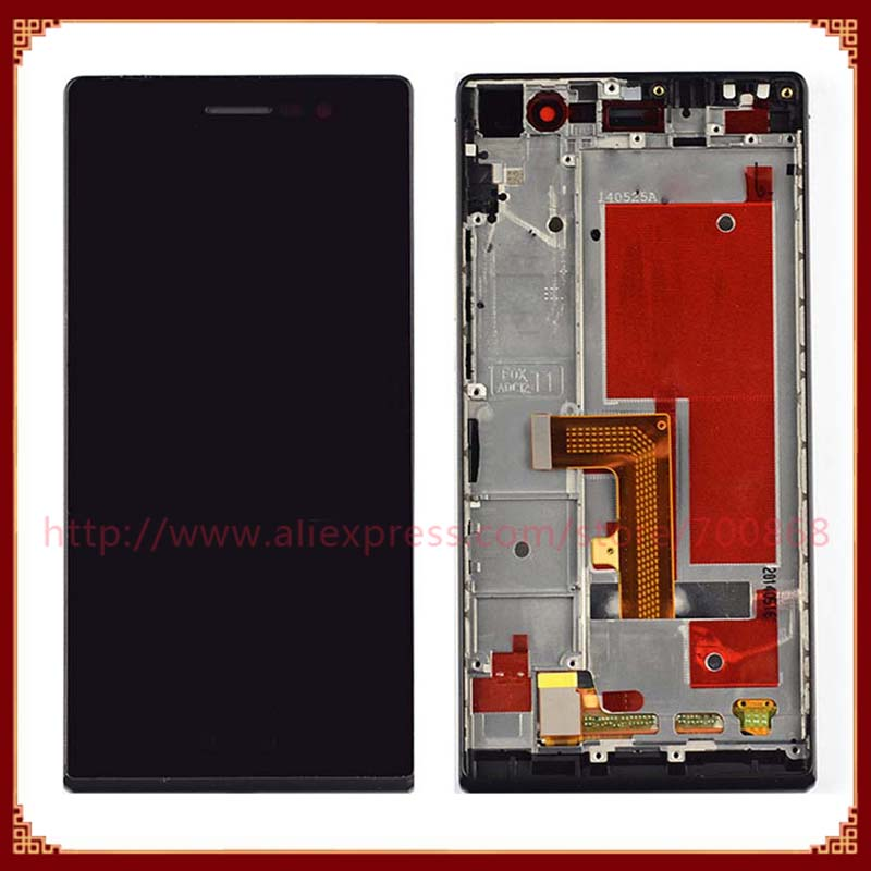 100% Original For Huawei Ascend P7 LCD Display With Touch Screen Digitizer With Frame For Huawei Ascend P7 Black/ white