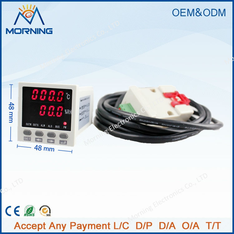 frame size 48*48mm LED Digital display Temperature and humidity Controller
