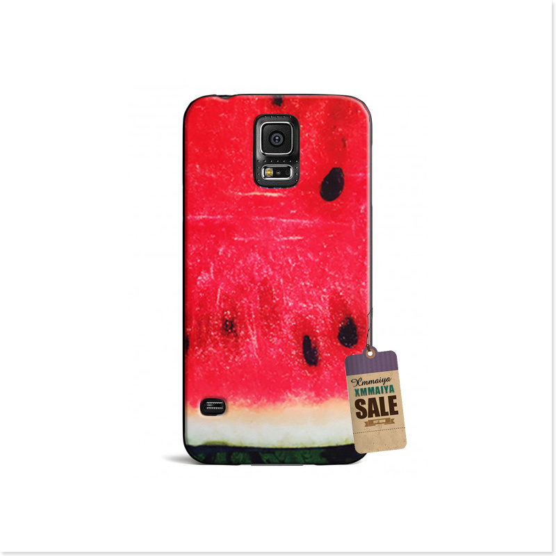 Red Watermelon Luxury Accessories Shell Original Cover For Galaxy s3 s4 s5 mini Brand Mobile Phone Cases(China (Mainland))