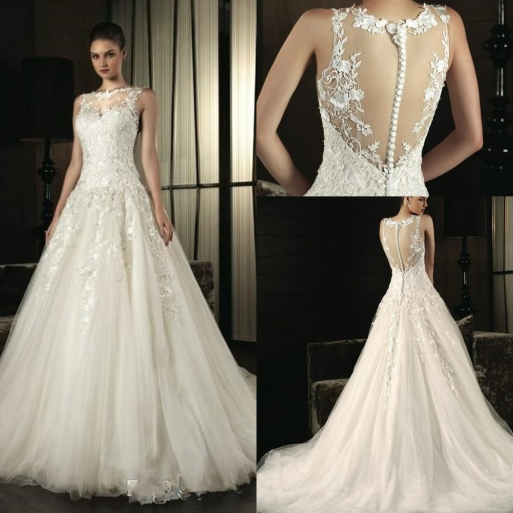 Robe de mariage 2015 romantic a line wedding dresses for Wedding dresses in china
