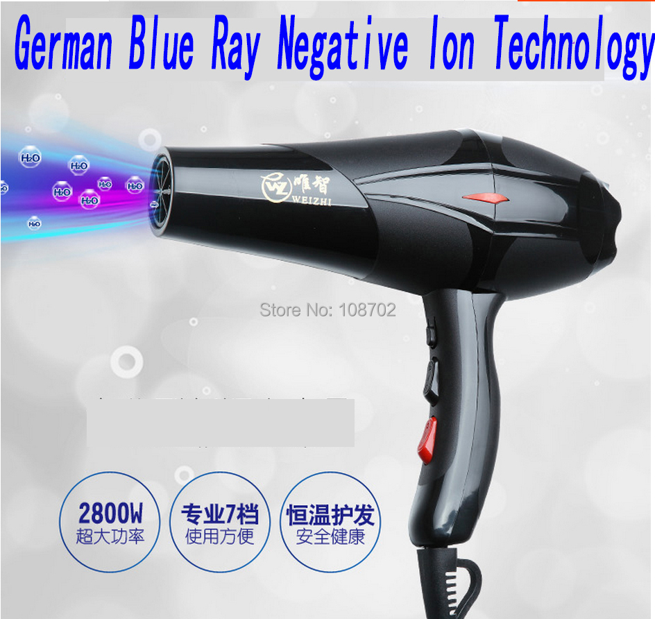Professional styling tools Germany negative ion technology 2800 watts high power low noise salon household blow hair dryer(China (Mainland))