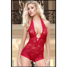 Charm One Piece V Neck Open Backless Nude Lace Ladies Adult Sexy Sleeping Teddy Lingerie Sexy Women Transparent Lingerie L8039-1