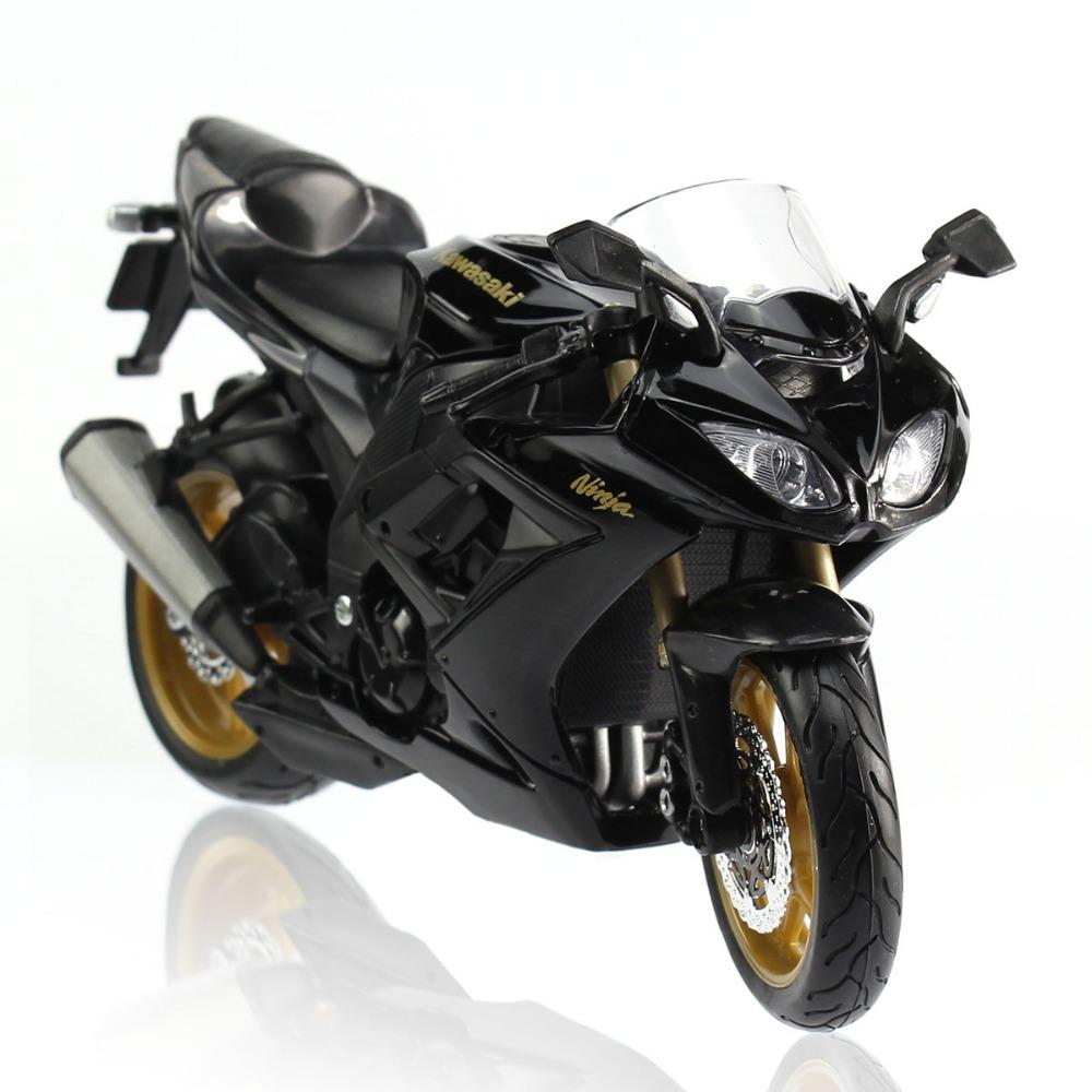 New Black 1:12 Diecast Toy Vehicles Model Kawasaki ZX-10R Motorcycle Bike(China (Mainland))