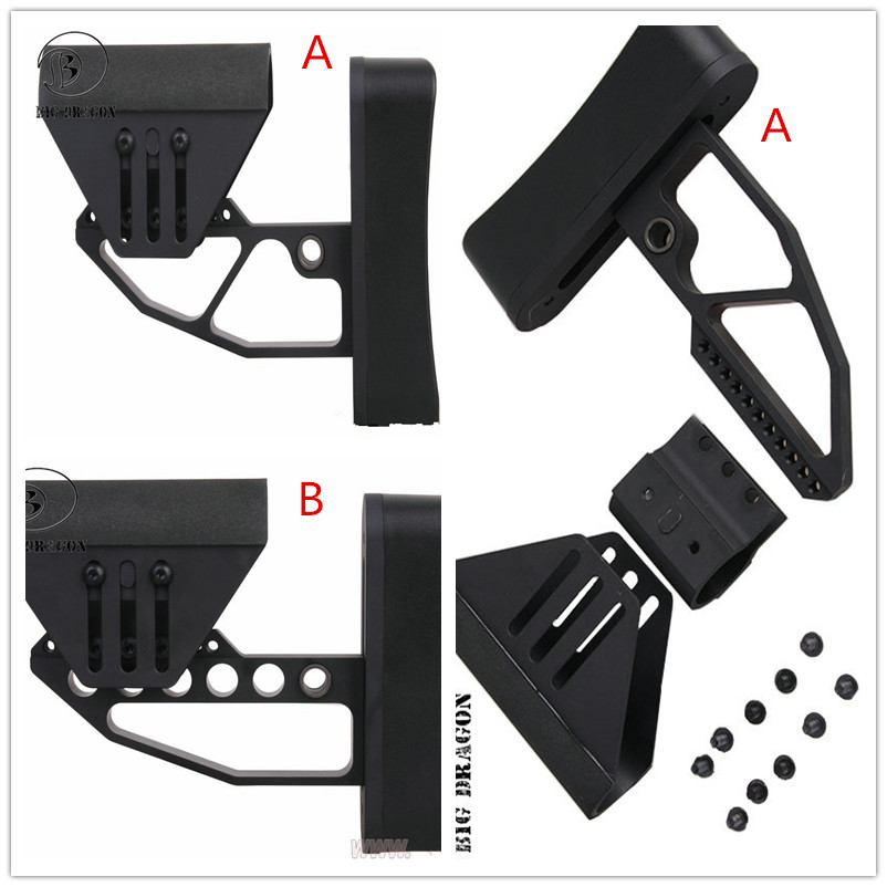 Tactical Support M4 Glr fit BD TB Style Stock he black for Hunting Gun Accessories free shipping(China (Mainland))