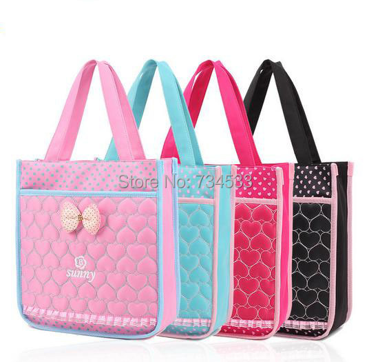 Primary School Student Japan Korean Style Heart Shape Stitch Cute Girl Satchels Book Shoulder Bag Pink Tote Handbag School Bag(China (Mainland))