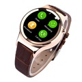 2016 New Wearable Devices Round Style Bluetooth Smart Watch T3 SmartWatch Support SIM TF Card UV