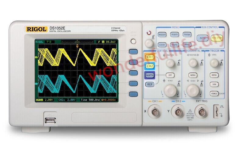RIGOL DS1052E Digital Oscilloscope 50MHz DSO 1GSa/S 2 Channel <br><br>Aliexpress