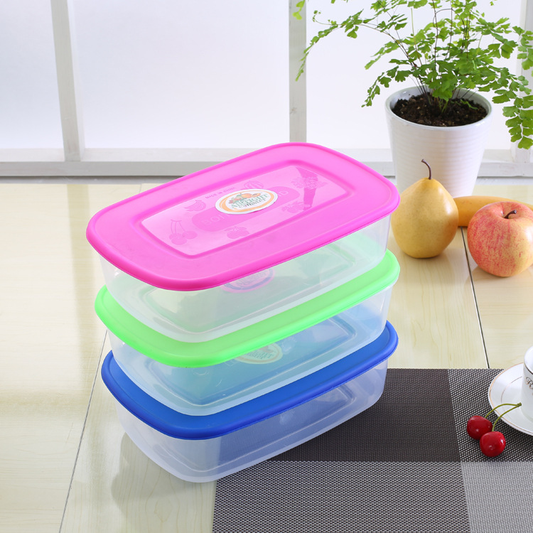 1PC 3 Colors food grade plastic airtight food container crisper set food storage container box containers for food storage J0727(China (Mainland))