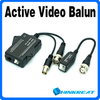 UTP Network Active Power Video Receiver Balun CAT5 to Camera CCTV BNC Free Shipping VB23#
