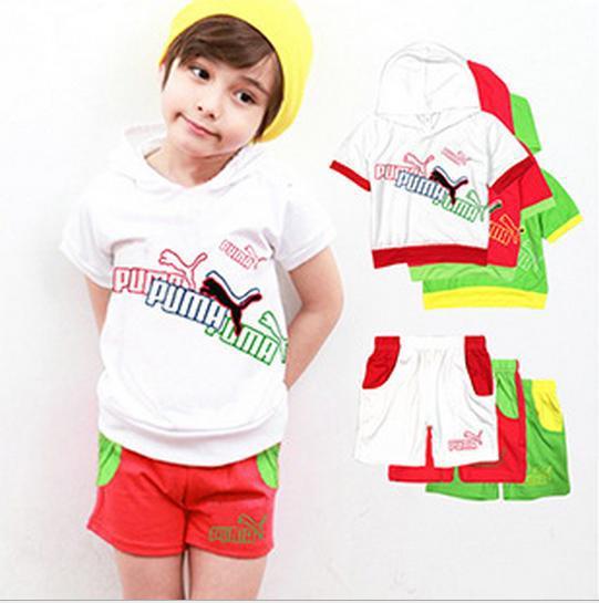 New Arrival Kids Sportswear Children Clothing Short Sleeve T-shirt +Pants Children Kids Suit Kids Clothes(China (Mainland))