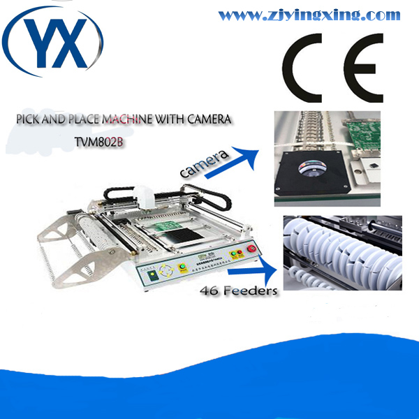 Advanced SMT Pick And Place TVM802B PCB Equipment Led Manufacturing Machine With Camera And Visual System(China (Mainland))