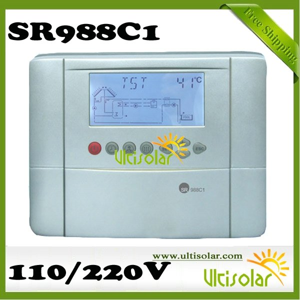 SR988C1 Solar System Controller Most Powerful Controller 30 Systems 3 tanks solar swimming pool and radiatiion system free ship(China (Mainland))