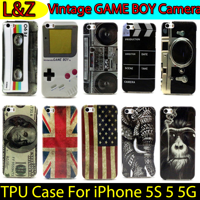 16 Styles GAME BOY Radio Printing TPU Protection Back cover Case sFor iPhone 5S 5G Silicone Gel Cover for iPhone 5S Coque(China (Mainland))