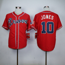 Men 3 Dale Murphy 10 Chipper Jones 24 Deion Sanders 29 John Smoltz throwback Man white red black blue gray Jersey(China (Mainland))