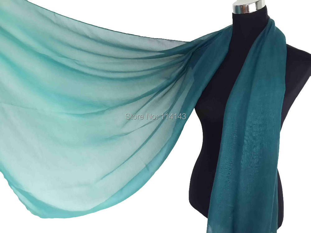 Promotional 10pcs/lot Ombre Scarf Plain Color Shades Muslim Hijab Wrap, Free Shipping(China (Mainland))