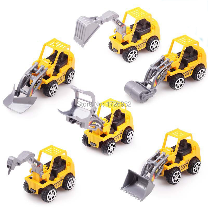 6Pcs/Set Free Shipping 2015 New Truck Model Toy Cars Educational Toys Gift,Birthday Gifts Baby Cheap Price yellow plastic truck(China (Mainland))