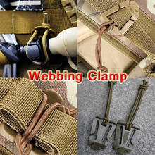 10Pcs/lot Outdoor Elastic Rope Webbing Buckle/Ribbon Fixed Clip Camping Tool ITW Webdom Web Dominator Molle Backpack Carabiner(China (Mainland))