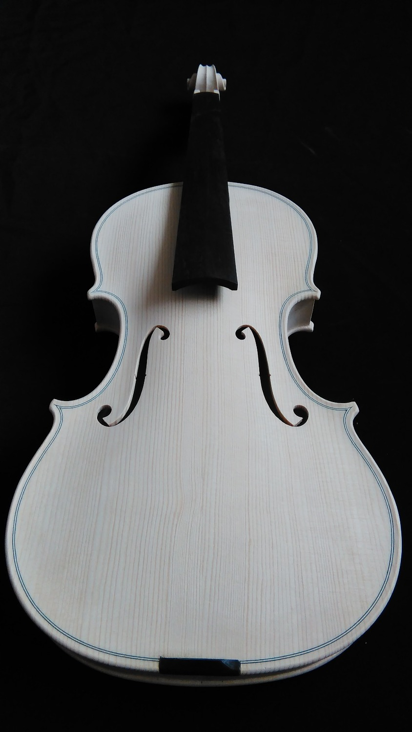 M701# Quality White Violin Unfinished Violin Spruce Top & Maple Back Ebony Fingerboard 4/4(China (Mainland))