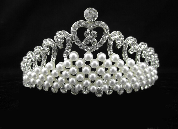 Pearl Crystal Bride Crown Hair Accessories Wedding Tiaras and Crowns for Sale Rhinestone Pageant Crowns Hairband jewelry(China (Mainland))