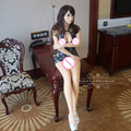 165cm Top Cheongsam Oral Sex Doll Full Silicone Japanese Real Doll Vagina Pussy Anal Real Life