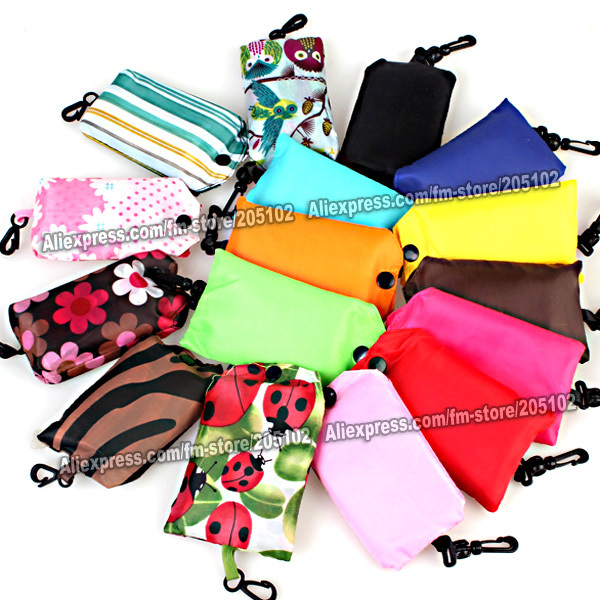 Гаджет  pocket square Eco-friendly Shopping bag only 15pcs/lot min-order,mixed many colors eco reusable folding handle Bag free shipping None Камера и Сумки