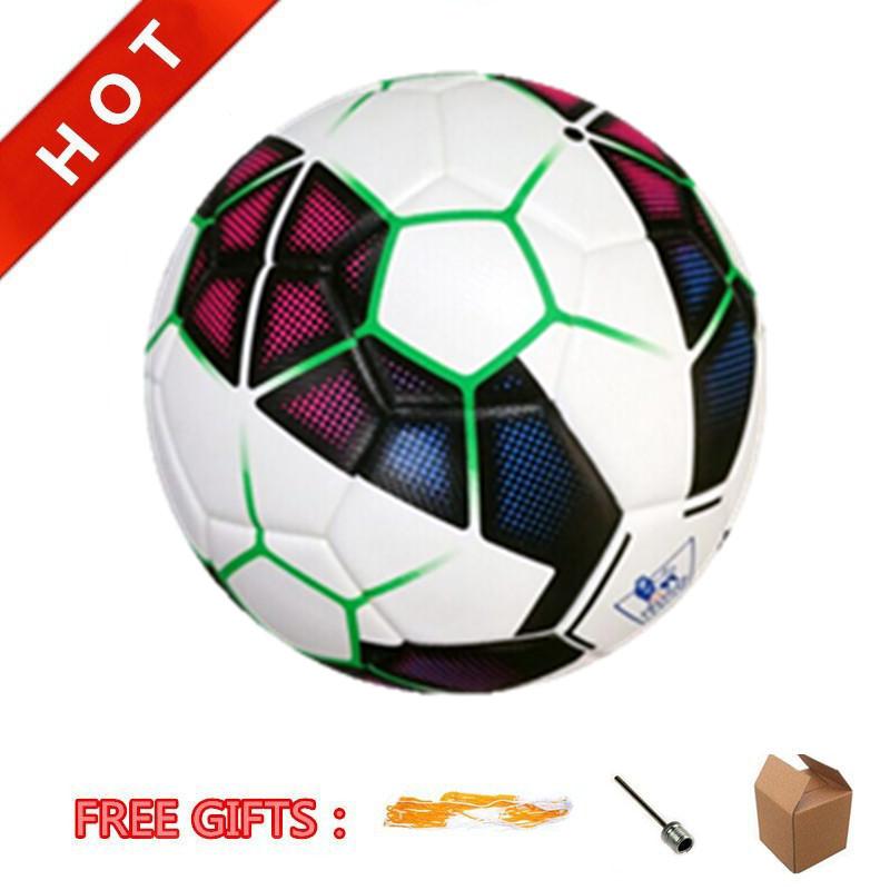 New Arrival! 2015 Premier Match Ball Soccer Ball Size 5# PU Leather Glue Laminated Football Ball Bola De Futebol Freeshipping(China (Mainland))
