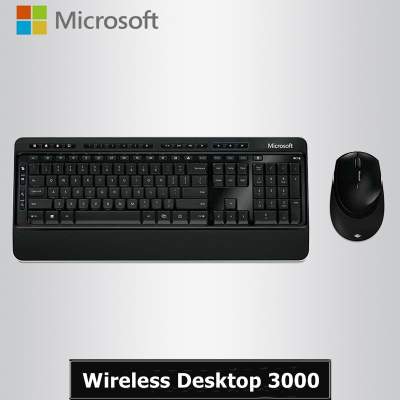 New Arrival Genuine Microsoft Wireless Desktop 3000 2.4GHz Wireless Keyboard and Mouse Combo For Desktop(China (Mainland))