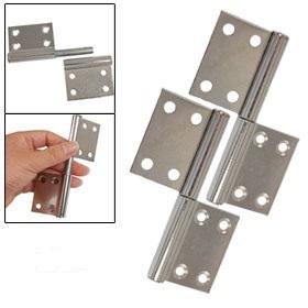 "Door Hardware Chrome Plated Metal 3.7"" Gates Flag Hinges 4 Pcs Free Shipping"