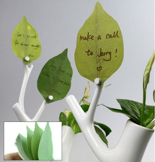 Гаджет  Decorative stickers simulation leaves paper notes N times posted meno pads Wishing Wall Stickers Scrapbooking None Офисные и Школьные принадлежности