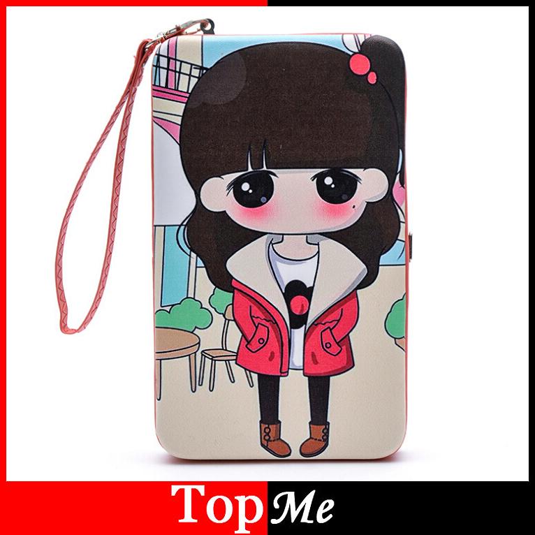 Women Wallets Box Lady Handbags Soft PU Leather Metal Purse Cards Holder Woman Long Doll Wallet Handbags Moneybags Burse Bags(China (Mainland))
