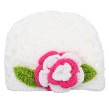 New Fashion Autumn Winter Warm Wool Baby Hat Girl Toddler Infant Kids Caps Brand Cute Big Flower Children Beanies Accessories(China (Mainland))