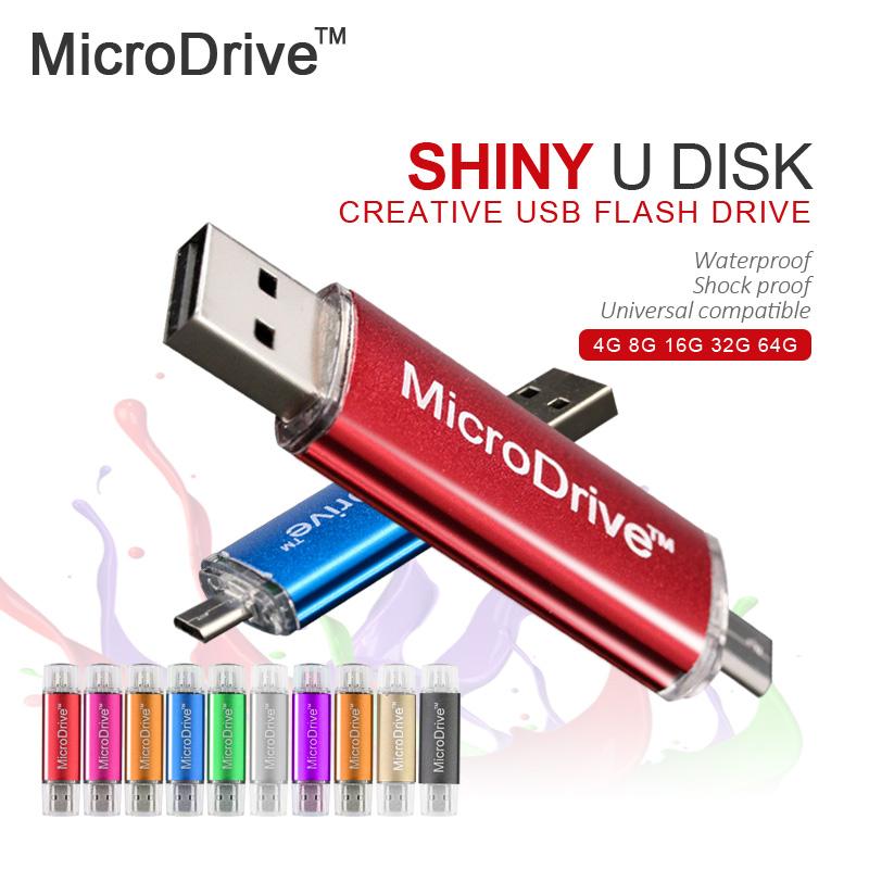 100% Full Size Smart Phone PC USB Flash Drive pen 4G 8GB 16GB 32GB mini usb OTG external storage micro usb memory stick pendrive(China (Mainland))