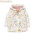 2016 Spring Autumn Baby Girl Outwear Cartoon Fruit Print Jackets Hooded Kids Windbreaker Brand Designer Girls