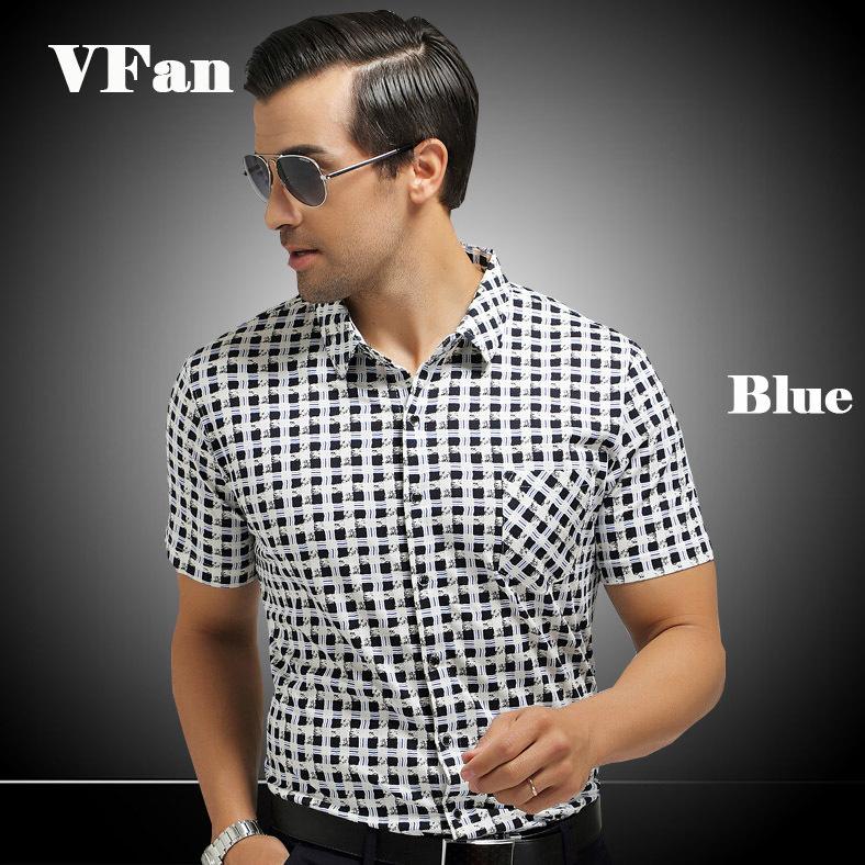 2015 Brand Men's Slim Fit Thin Short-Sleeved Men's Plaid Short-Sleeved Shirt Flower Shirt Casual Mercerized Cotton Z1333(China (Mainland))