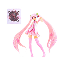 Japan Anime VOCALOID Sakura Hatsune Miku PVC Action Figure Collectible Kids Model Toys 16 cm s016