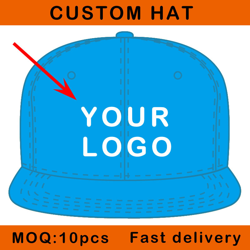 E111-7 embossed embroidery logo flat peak baseball sport cap adjustable clasp custom sun hat(China (Mainland))