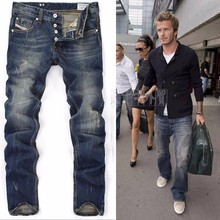 new arrivals 2015 men famous brand blue denim designer high quality ripped jeans for men classic retro 9003&970,free shipping(China (Mainland))