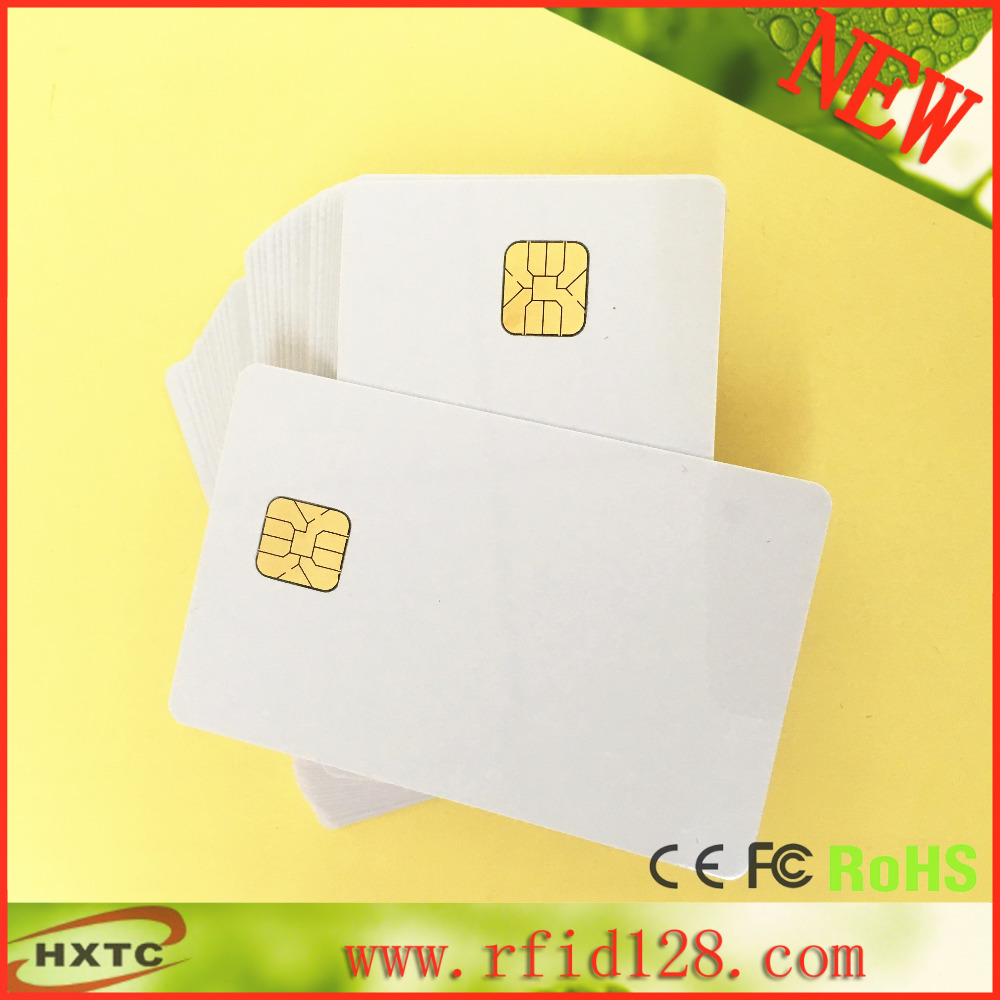 Factory Supplier 50PCS/Lot ISO7816 Contact AT24C16 Chip Smart IC Blank PVC Card with 16K Memory With Free Shipping(China (Mainland))