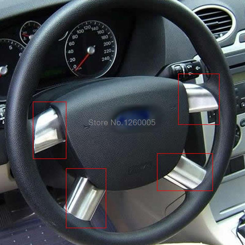 For Ford Focus 2 2007 2008 2009 2010 2011 Inner Steering Wheel Decorative Frame Stainless Steel