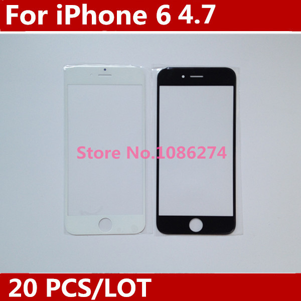 Black/White NEW Replacement for iphone 6 4.7inch LCD Front Touch Screen Glass Outer Lens 20PCS.LOT(China (Mainland))