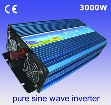 inverseur de panneau solaire solar panel inverter 3000W Pure Sine Wave Inverter,Off grid inverter,DC 12V or 24V input(China (Mainland))