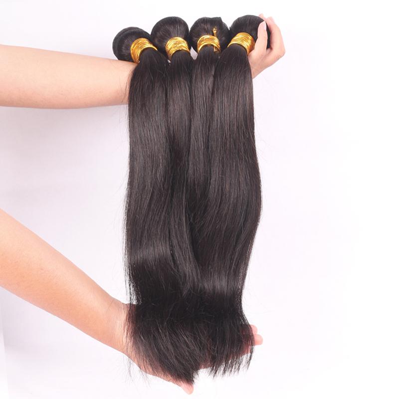 Vierge péruvienne extension de cheveux, Naturel droite, 12 '' - 30 '' instock, Non transformés péruvienne Virgin cheveux raides 10 pcs/lote(China (Mainland))