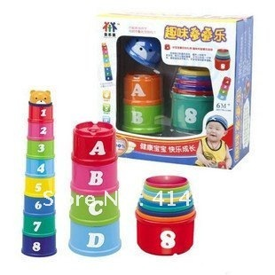 educational toys Fun toy STACKING CUPS free shipping