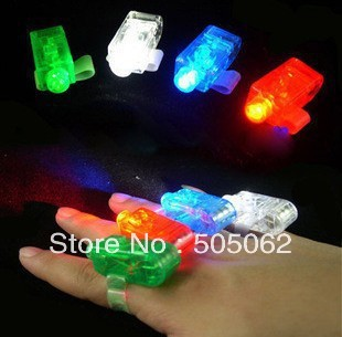 500pcs/lot 4x Colors flash laser finger light beams party Light-up finger ring laser lights with opp bag free shipping(China (Mainland))
